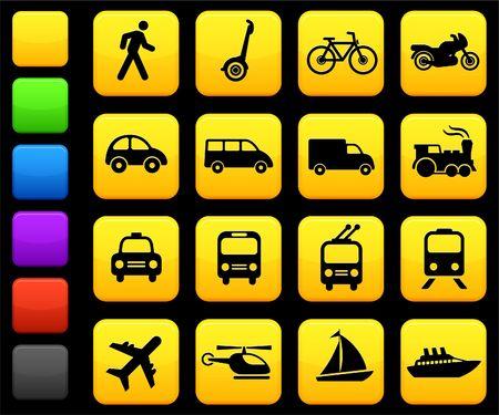 Original illustration: Transportation icons design elements illustration