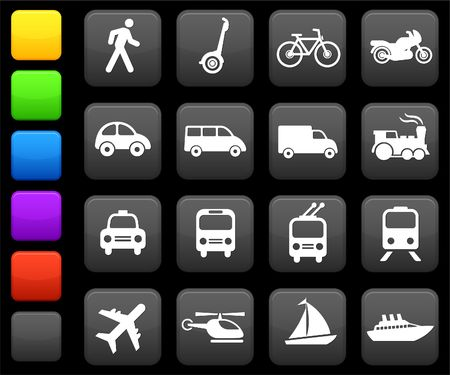 Original illustration: Transportation icons design elements Stock Illustration - 6573834