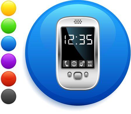 organizer icon on round internet button original illustration 6 color versions included Stock Illustration - 6572129