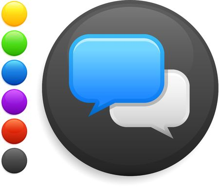 internet chat icon on round internet button original illustration 6 color versions included Stock Illustration - 6572467