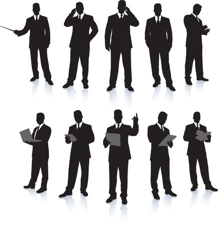 Businessman Silhouette Collection Original Illustration People Silhouette Sets illustration