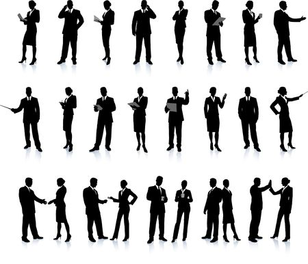 Business People Silhouette Super Set 26 unique high-detailed silhouettes featuring beautiful sexy models Each Silhouette is grouped File is AI 8 compatible and easy to manage  photo