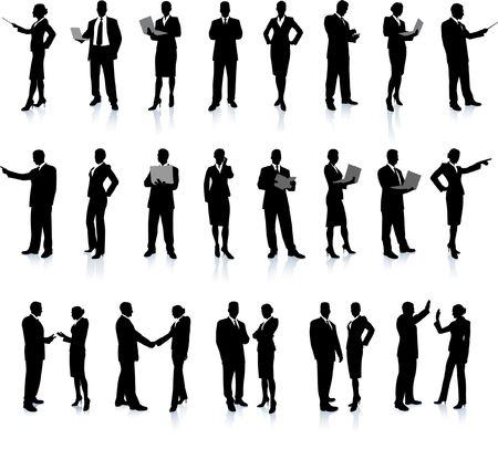 Business People Silhouette Super Set26 unique high-detailed silhouettes featuring beautiful sexy modelsEach Silhouette is groupedFile is AI 8 compatible and easy to manage photo