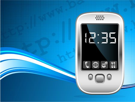 palm pilot: Original Vector Illustration: palm phone background AI8 compatible Stock Photo