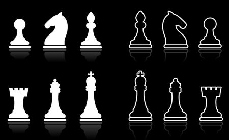 Original vector illustration: Simple Chess set collection illustration
