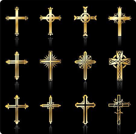 Original Illustration: religious cross design collection