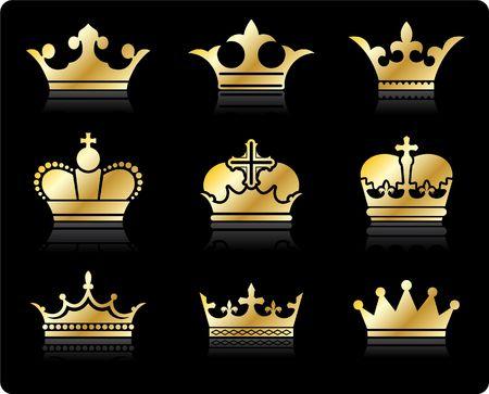 Oorspronkelijke afbeelding: design collectie kroon  Stockfoto
