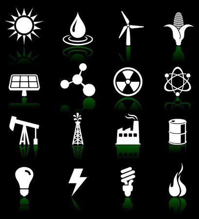 Original vector illustration: Environmental icons set