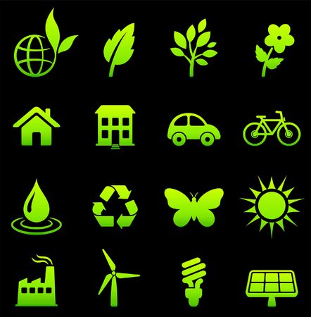 Original vector illustration: environment elements icon set Stock Illustration - 6572192