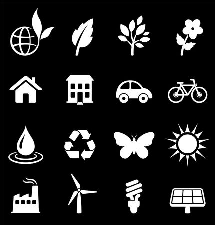 Original illustration: environment elements icon set Stock Illustration - 6572152