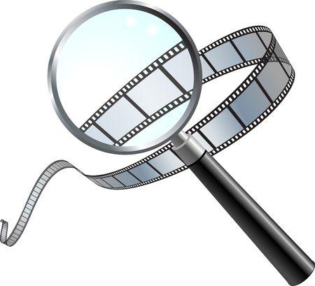 closer: Original Vector Illustration: Film: a closer look AI8 compatible