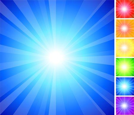 Original Illustration: Simple Rainbow glow collection AI8 compatible