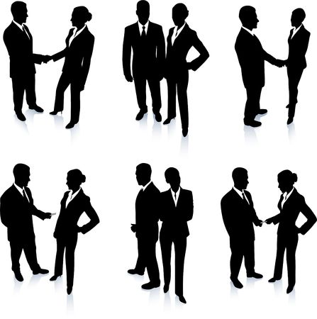 Business Team Silhouette Collection Original Vector Illustration People Silhouette Sets illustration