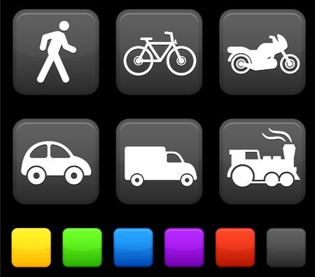 Transportation icon on internet buttons Original vector Illustration illustration