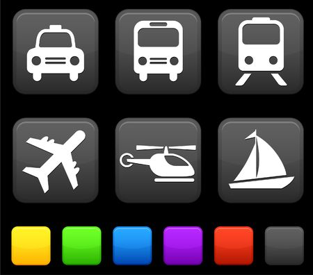 Transportation icon on internet buttons Original Illustration illustration