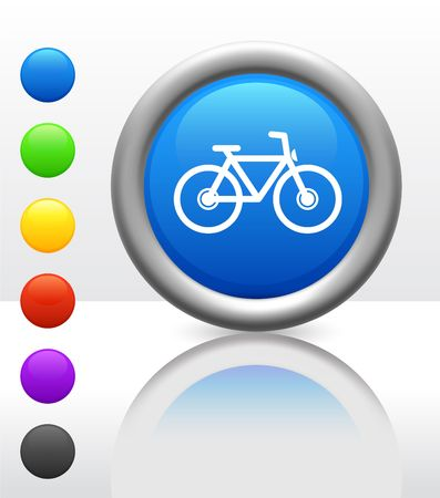 Original Vector Illustration: bicycle icon on internet button AI8 compatible