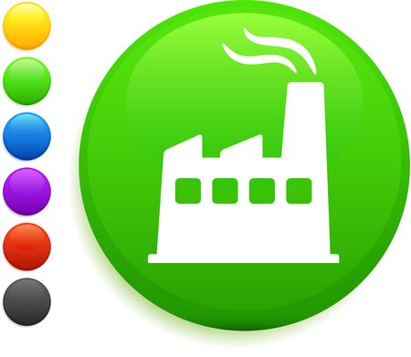 factory icon on round internet buttonoriginal vector illustration6 color versions included