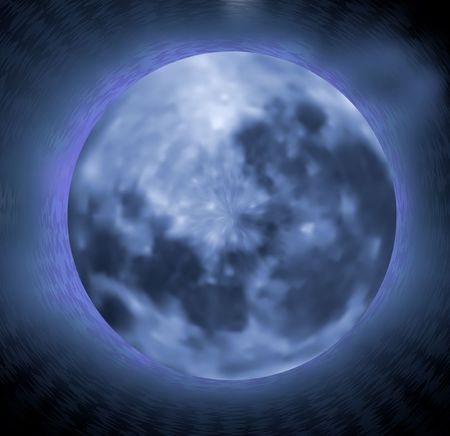 Original Illustration: Realistic moon during the night background AI8 compatible
