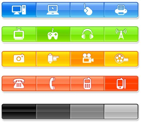 Bar Technology Icons Original Illustration Stock Illustration - 6572597