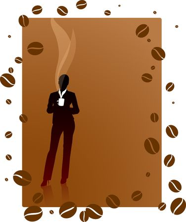 Origianl Vector Illustration: Business coffee break File is AI8 compatible Stockfoto