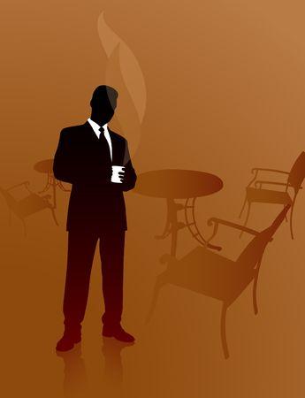 Original Illustration: Business coffee break File is AI8 compatible Stockfoto - 6573122