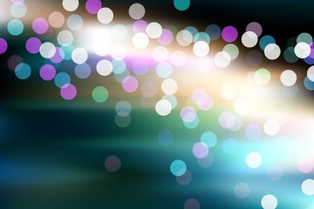 Abstract glowing defocused lights Original illustration (EPS10) illustration