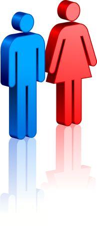 silhouette femme: Homme et femme couple Illustration originale