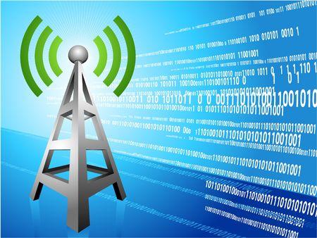 Digital Radio tower wave modern Background Original Illustration Ideal for internet concepts