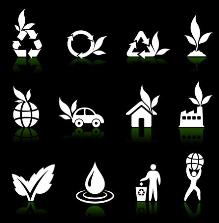 greener: Original vector illustration: greener environment icon collection