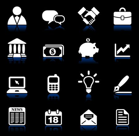Original vector illustration: business and communication icon set illustration
