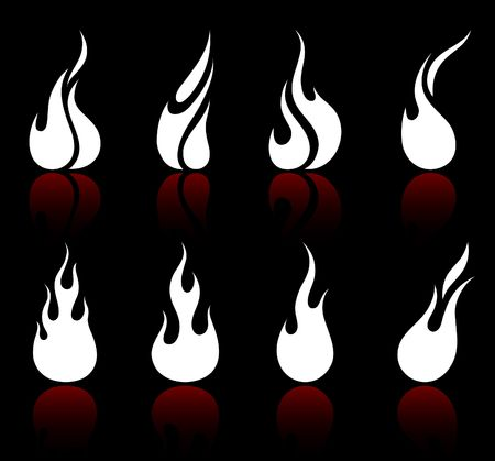 Original vector illustration: Flame and fire Stock Illustration - 6572104