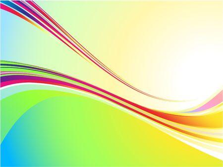 illustration cool: Original Illustration: Cool color wave background AI8 compatible Stock Photo