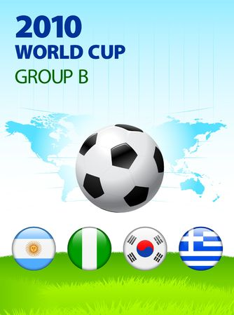 2010 World Cup Group B Original Illustration  illustration