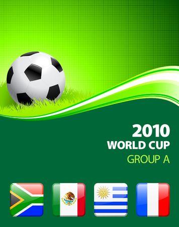 2010 World Cup Group A Original Illustration  illustration