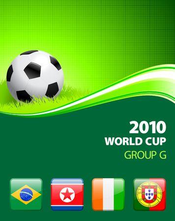 2010 World Cup Group G Original Illustration  Фото со стока