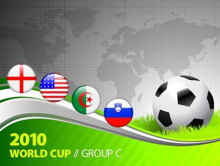 2010 World Cup Group C Original Vector Illustration  illustration