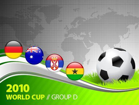 2010 World Cup Group D Original Illustration Stock Illustration - 6573928