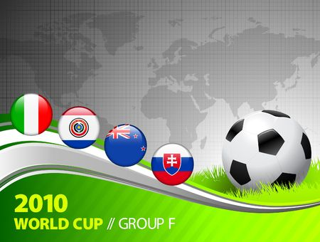 silver grass: 2010 World Cup Group F Original Illustration  Stock Photo