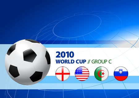 2010 World Cup Group C Original Illustration  illustration
