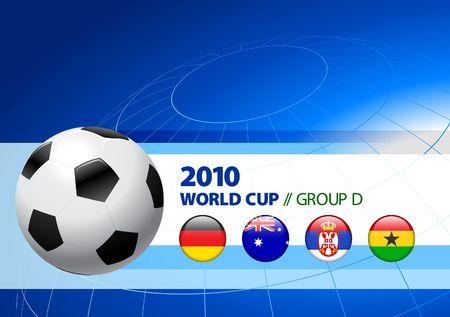 2010 World Cup Group D Original Vector Illustration  illustration