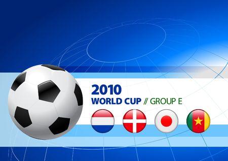 2010 World Cup Group E Original Illustration  illustration