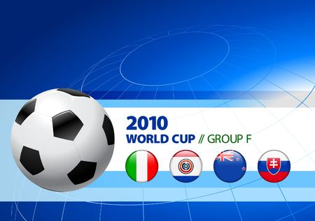 the world cup: Illustrazione originale del gruppo F di Coppa del mondo 2010