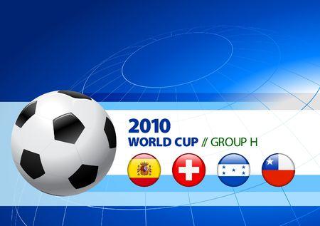 2010 World Cup Group H Original Vector Illustration  illustration