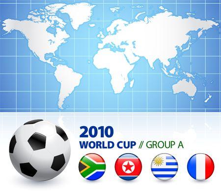 2010 World Cup Group A Original Vector Illustration  illustration