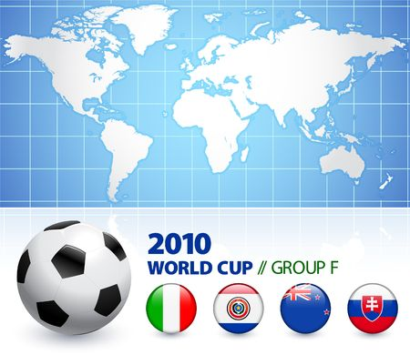 2010 World Cup Group F Original Illustration  illustration