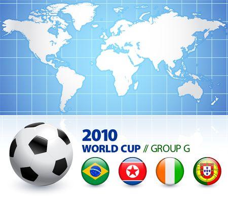 2010 World Cup Group G Original Illustration  illustration