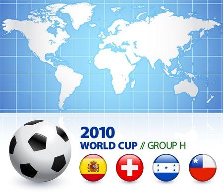 2010 World Cup Group H Original Illustration  illustration