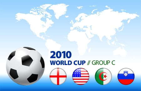 the world cup: Illustrazione originale del gruppo C di Coppa del mondo 2010