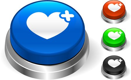 Heart Icon on Internet Button Original  Illustration Three Dimensional Buttons illustration