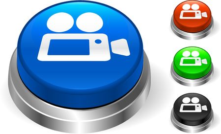 Video Camera on Internet Button Original  Illustration Three Dimensional Buttons Stock Illustration - 6589633